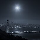 Full Moon Star Over San Francisco by Toby Harriman