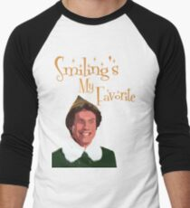 Buddy The Elf - Smiling's My Favorite Men's Baseball ¾ T-Shirt