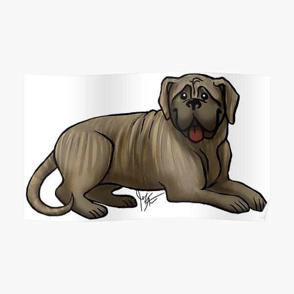 English Bull Mastiff -  Brindle Poster