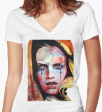 Witchy Women's Fitted V-Neck T-Shirt