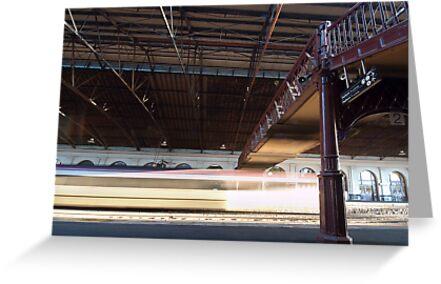The 4:40 Departs Platform 1 by John Sharp