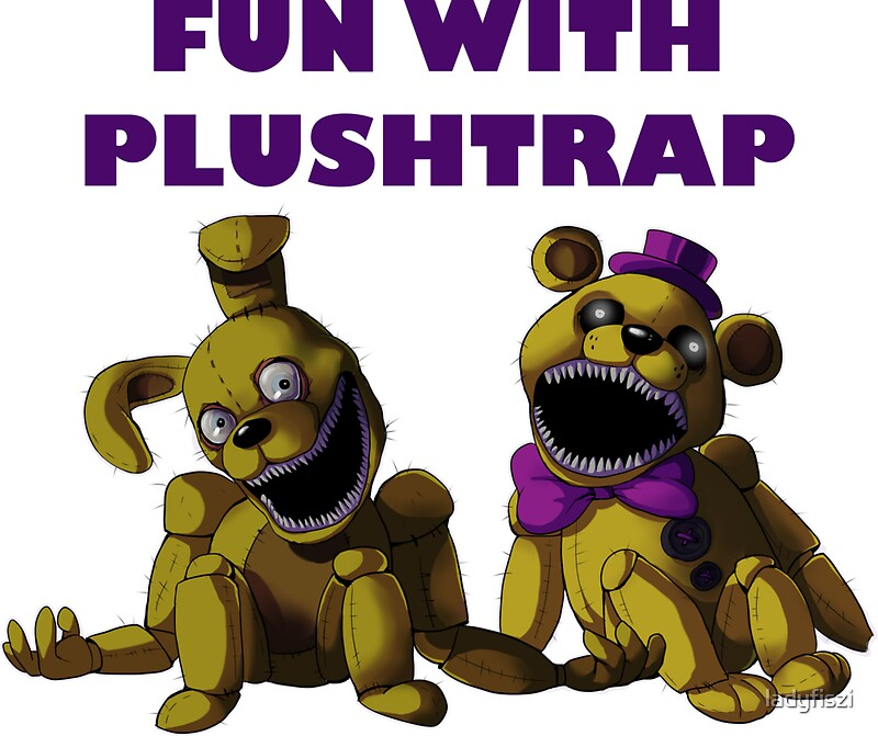 Quot Fnaf 4 Fun With Plushtrap Quot Stickers By Ladyfiszi