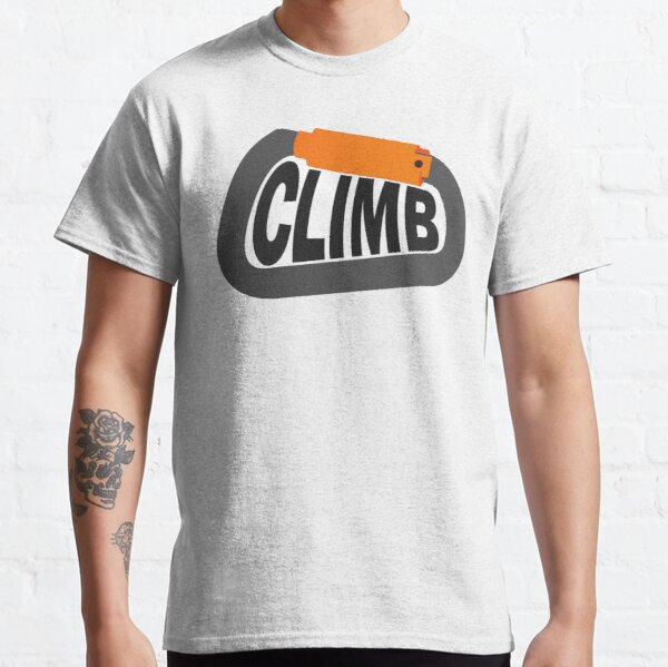 "Carabiner with ""Climb"" Text Classic T-Shirt"