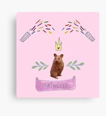 Princess Hamster Banner Mouse Canvas Print