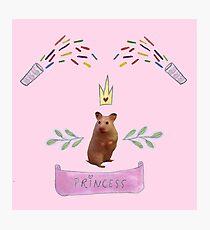 Princess Hamster Banner Mouse Photographic Print