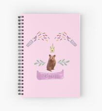 Princess Hamster Banner Mouse Spiral Notebook