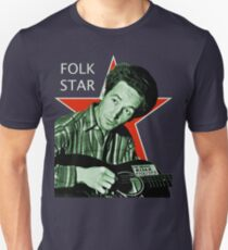 Woody Guthrie, Folk Star (Lg) T-Shirt