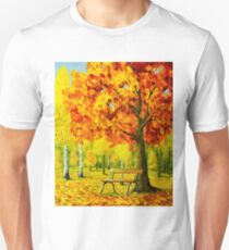 Bench under the maple tree T-Shirt