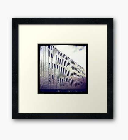 Manchester Metal Building Framed Print