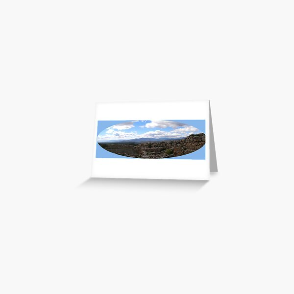 panorama of mycenaic citadel2 Greeting Card