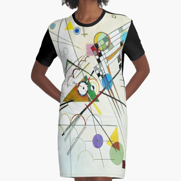 """""""Study for Composition VIII"""" Wassily Kandinsky Abstract Art Graphic T-Shirt Dress"""