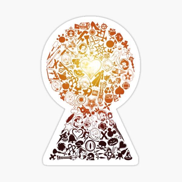 Kingdom Hearts - Keyhole (orange) Sticker