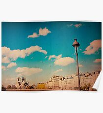 old-fashioned style paris france Poster