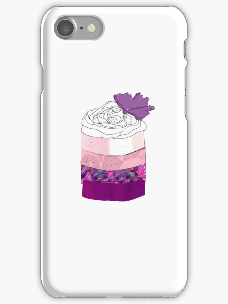 Ombre Mini Cake iPhone/iPod Case by cmIllustration