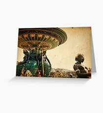 old-fashioned style paris france Greeting Card