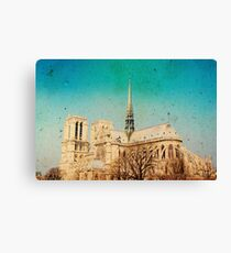 old-fashioned style paris france Canvas Print