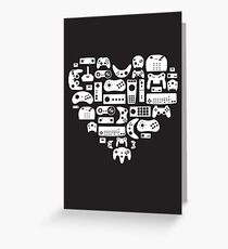 Controller Lover (White on Black) Greeting Card