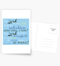 The Lord is My Light Postcards