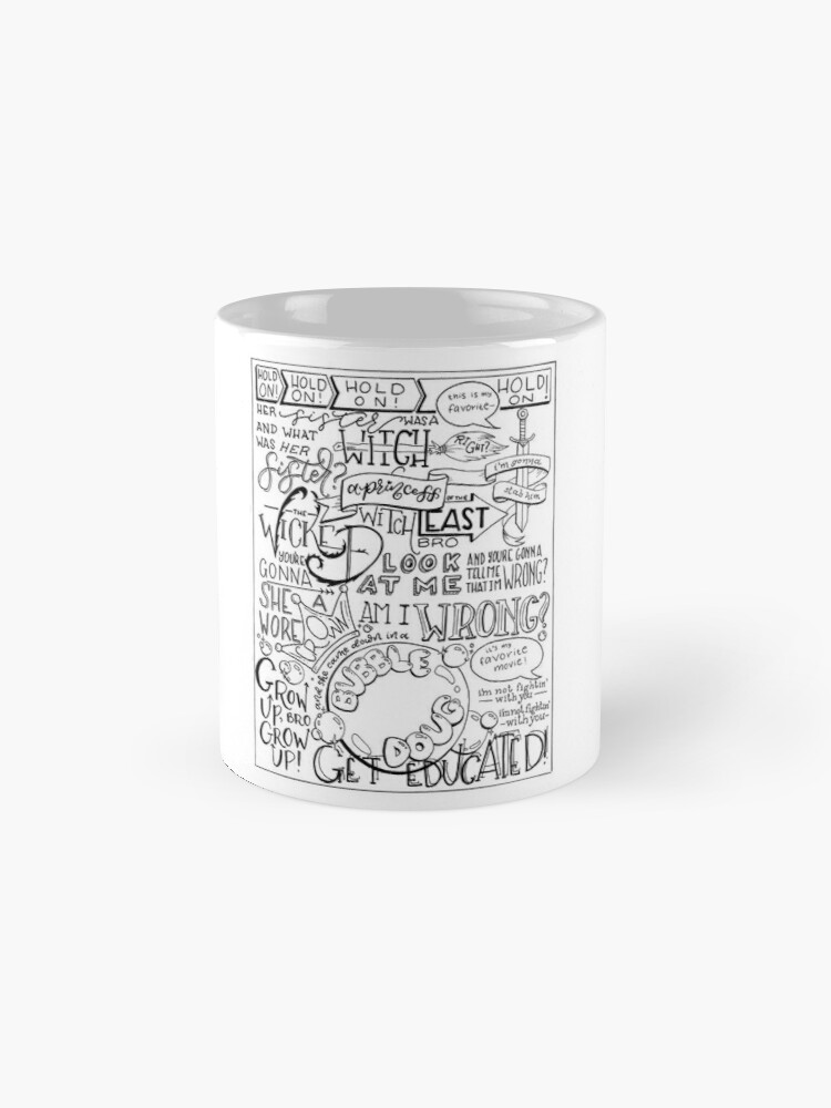 Alternate view of The Wicked Witch of the East Bro Hand Lettered Mug