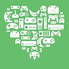 Controller Love (White on Green) by pinksage
