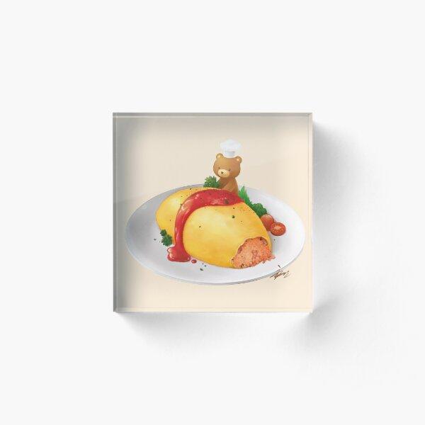 Delicious Omurice by Chef Kuma Acrylic Block
