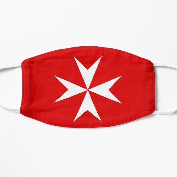 Bandera de la Cruz de Malta Mascarilla plana