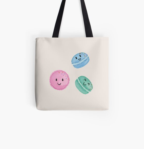 Happy Macarons All Over Print Tote Bag
