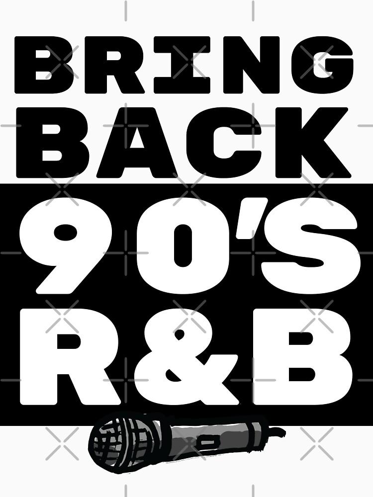 R&B/RnB Gift - 90s Music Lover Art - Rnb Fan with Microphone Illustration by sketchNkustom