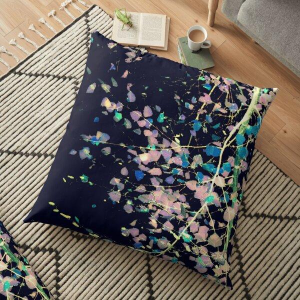 Nature Pattern # 4 - Birch (Blue) Floor Pillow