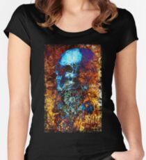 Skull and Flowers Women's Fitted Scoop T-Shirt