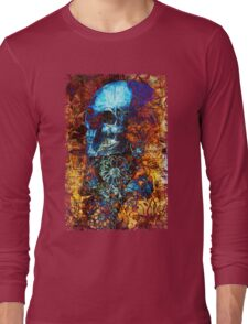 Skull and Flowers Long Sleeve T-Shirt