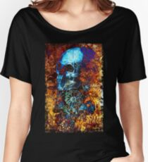 Skull and Flowers Women's Relaxed Fit T-Shirt