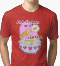 Fish fingers and custard Tri-blend T-Shirt