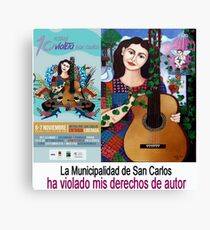 The Municipality of San Carlos has violated my copyright Canvas Print