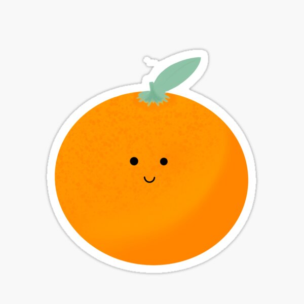 Cute Tangerine Sticker