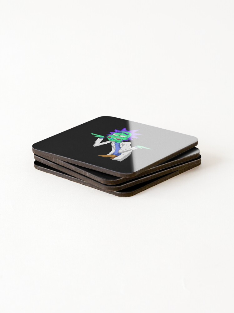 Alternate view of Copy of rick and morty get schwifty Coasters (Set of 4)
