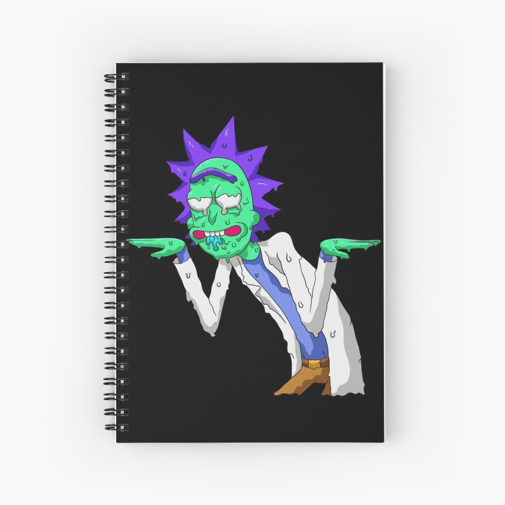 Copy of rick and morty get schwifty Spiral Notebook