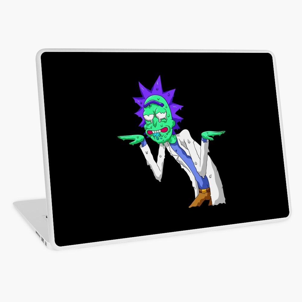 Copy of rick and morty get schwifty Laptop Skin