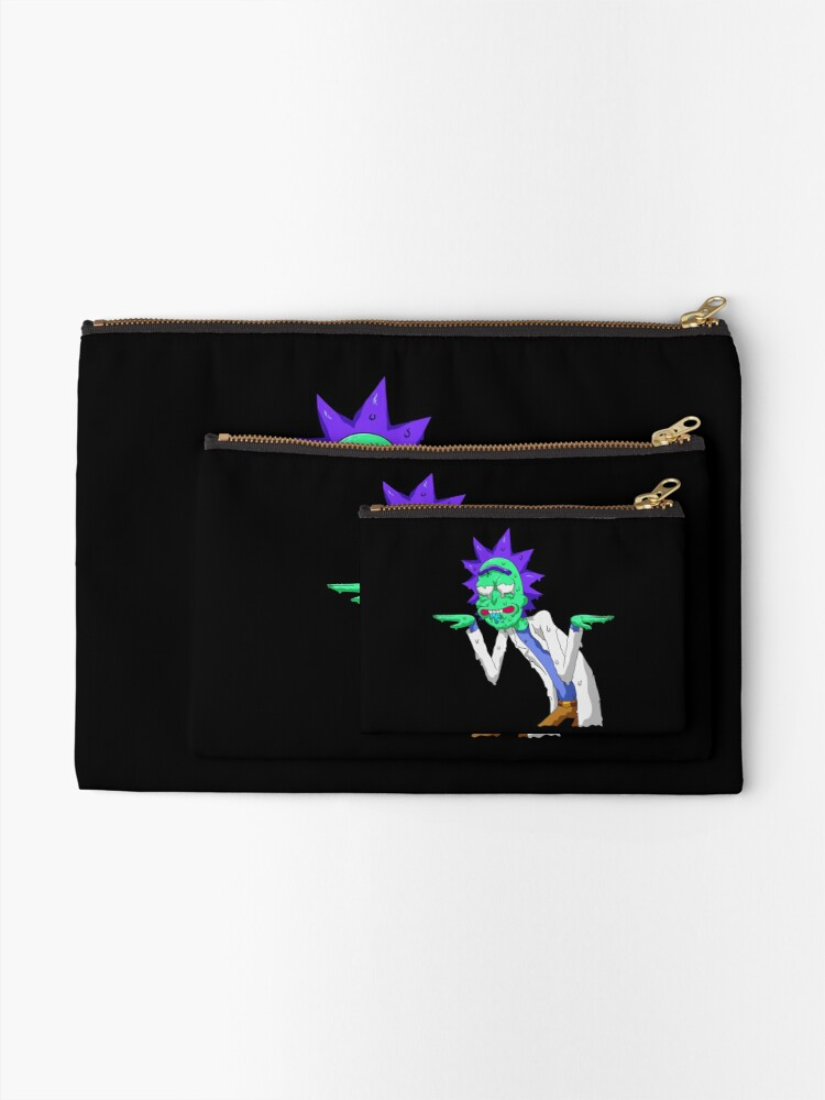 Alternate view of Copy of rick and morty get schwifty Zipper Pouch