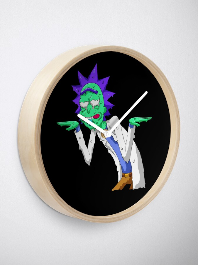 Alternate view of Copy of rick and morty get schwifty Clock