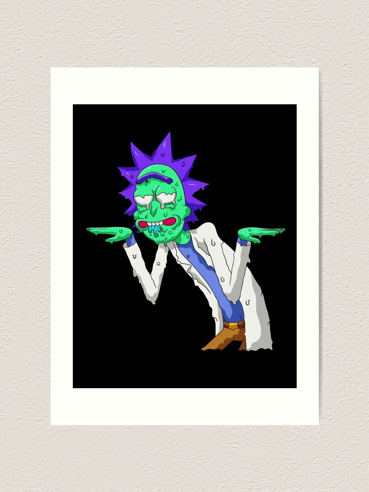 Alternate view of Copy of rick and morty get schwifty Art Print