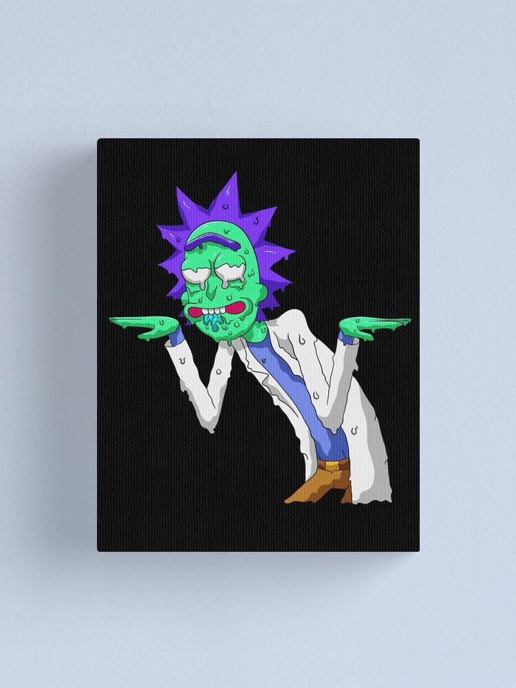 Alternate view of Copy of rick and morty get schwifty Canvas Print