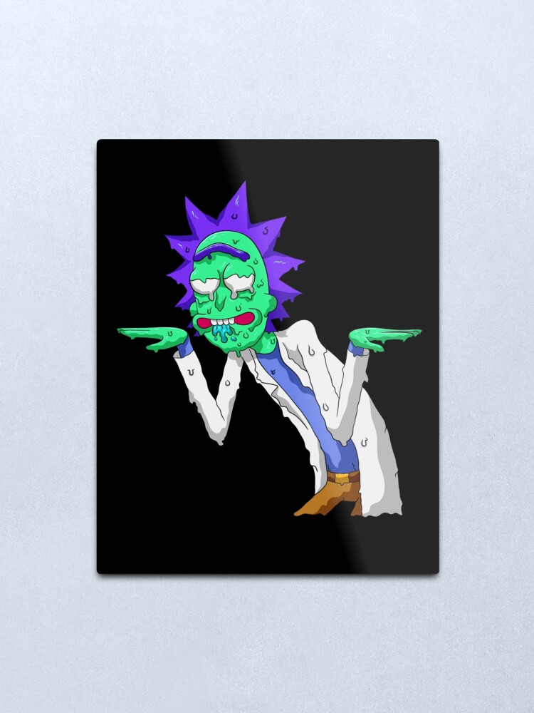 Alternate view of Copy of rick and morty get schwifty Metal Print
