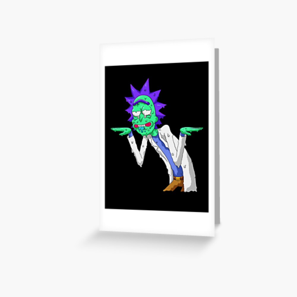 Copy of rick and morty get schwifty Greeting Card
