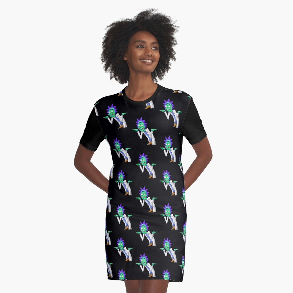 Copy of rick and morty get schwifty Graphic T-Shirt Dress