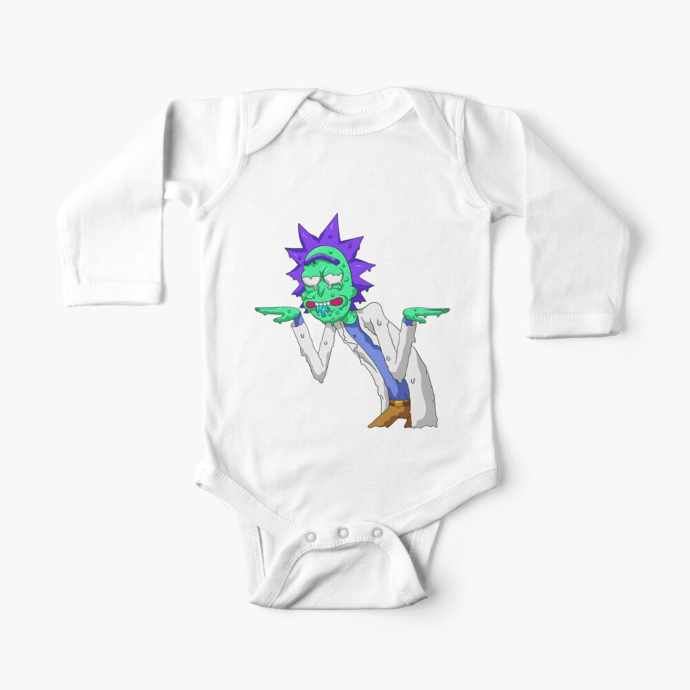 Copy of rick and morty get schwifty Baby One-Piece