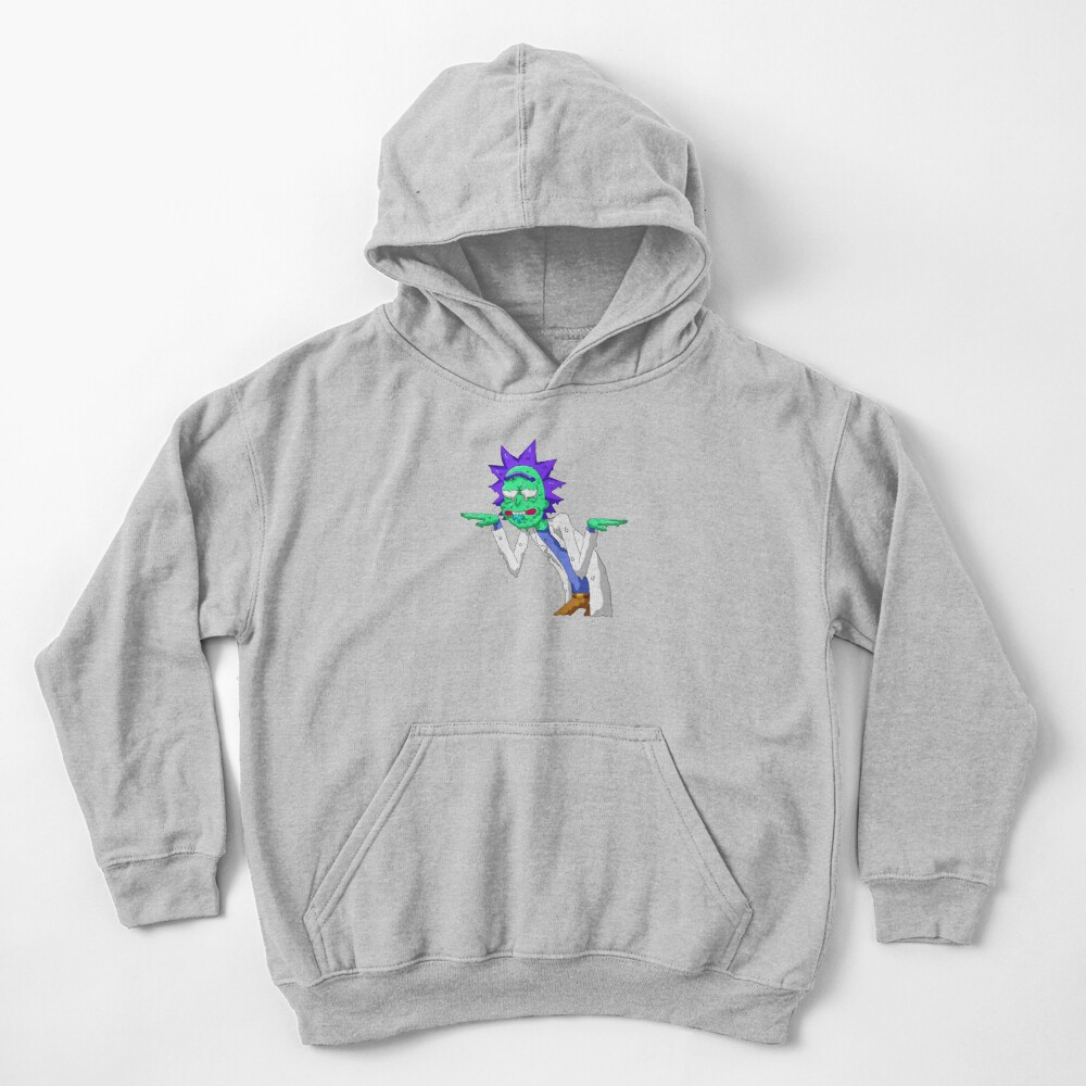 Copy of rick and morty get schwifty Kids Pullover Hoodie