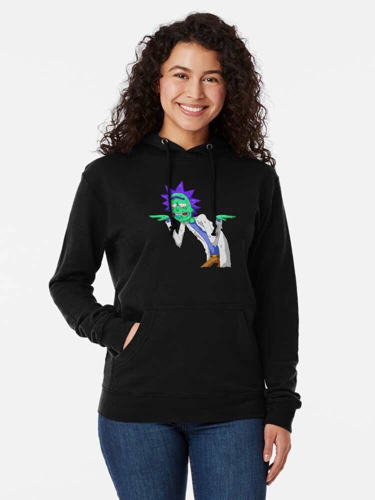 Alternate view of Copy of rick and morty get schwifty Lightweight Hoodie