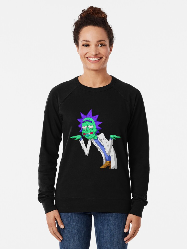 Alternate view of Copy of rick and morty get schwifty Lightweight Sweatshirt