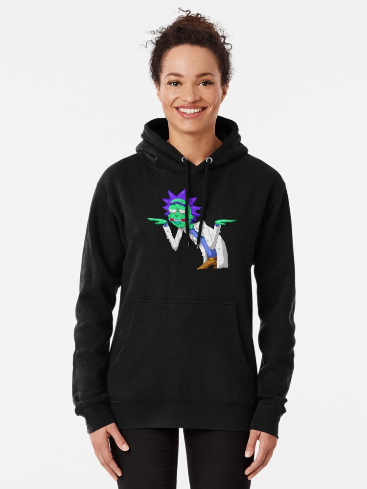 Alternate view of Copy of rick and morty get schwifty Pullover Hoodie